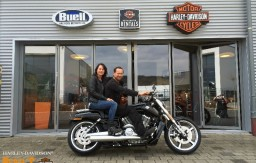 BERTL'S HARLEY-DAVIDSON ® _ BAMBERG - 2015 VRSCF V-Rod Muscle Vivid Black customzied