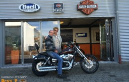 BERTL'S HARLEY-DAVIDSON ® _ BAMBERG - 2014 FXDWG Wide Glide Blackened Cayenne with Flames customized